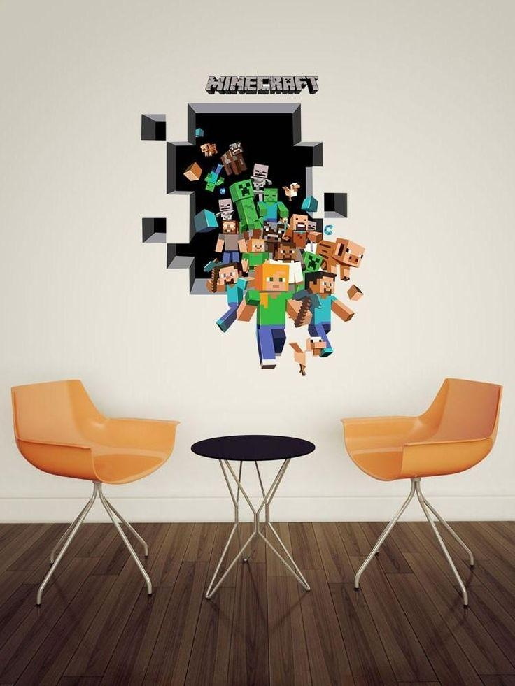 7 Best Stuff To Buy Images On Pinterest | Bedroom Ideas, Bedroom With Minecraft 3D Wall Art (Image 4 of 20)