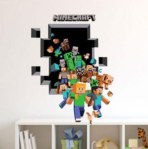 75 Best Wall Murals Images On Pinterest | Wall Murals, Drawings For Minecraft 3D Wall Art (Image 5 of 20)