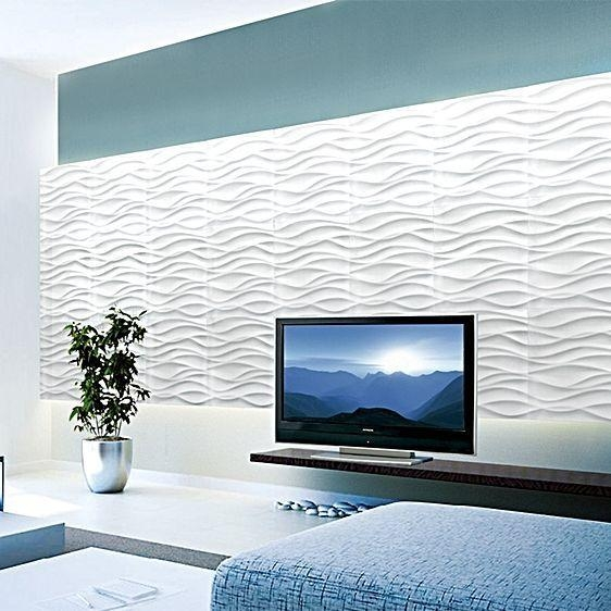 8 Best Living Room Images On Pinterest | 3D Wall Panels Pertaining To Waves 3D Wall Art (Image 7 of 20)