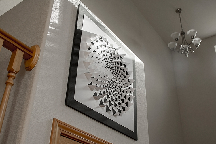 A Mind Bending 3D Optical Illusion Wall Art Made Using One Sheet For 3D Visual Wall Art (Image 8 of 20)