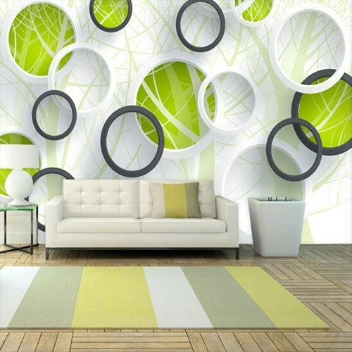 Abstract Photo Murals 3D Wallpaper Vinyl Wall Paper Tv Sofa Living Inside Abstract Wall Art 3D (View 2 of 20)