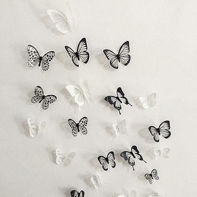 Aliexpress : Buy 18Pcs/lot Diy 3D Butterfly Wall Art Stickers Pertaining To Diy 3D Butterfly Wall Art (Image 12 of 20)