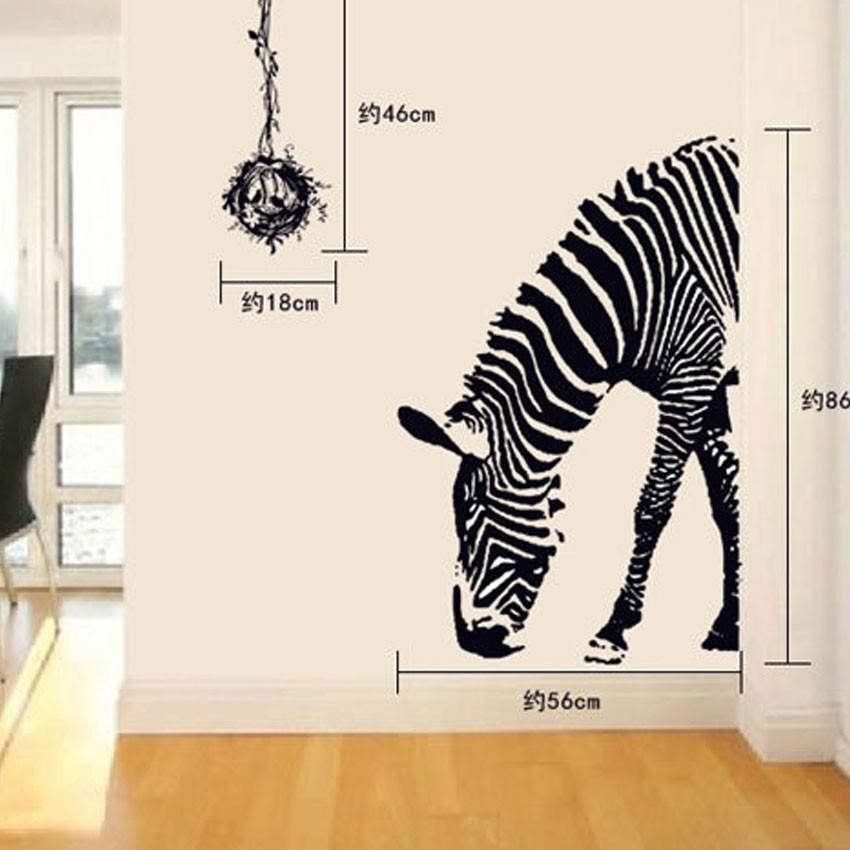 Aliexpress : Buy 3D Wall Sticker Zebra Wallpaper Living Room With Zebra 3D Wall Art (Image 6 of 20)