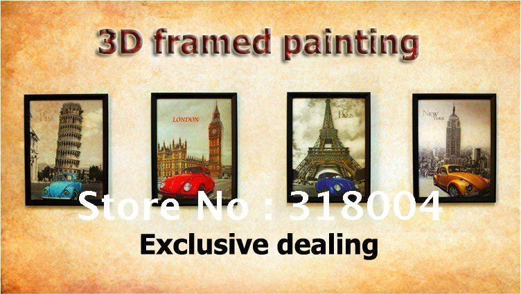 Aliexpress : Buy Framed 3D Wall Painting Wall Art Home Wall Inside Framed 3D Wall Art (Image 3 of 20)