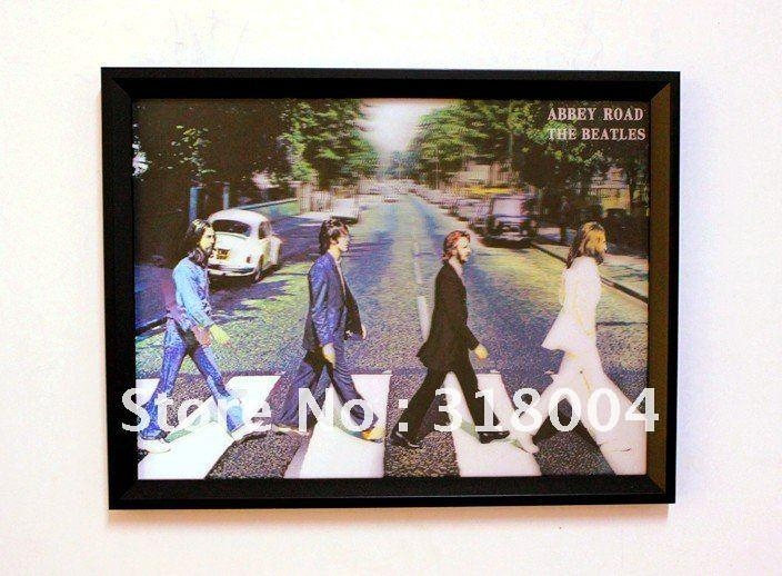 Aliexpress : Buy The Beatles Band Framed 3D Wall Painting Wall With Framed 3D Wall Art (Image 4 of 20)