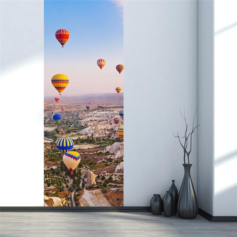 Aliexpress : Buy Turkey Hot Air Balloon 3D Door Wall Sticker With Air Balloon 3D Wall Art (Image 12 of 20)