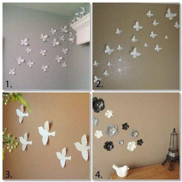 Amazing Diy 3D Wall Art Ideas Regarding Diy 3D Wall Art Butterflies (Image 11 of 20)
