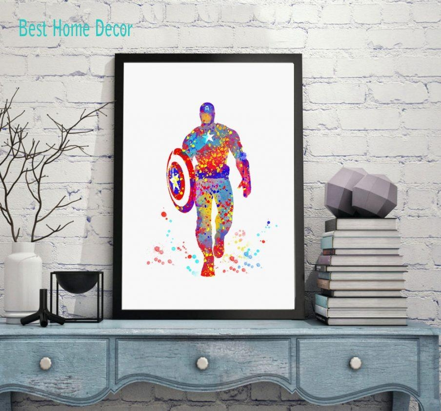 Appealing Marvel Avengers Wall Art Set Of Superhero Kids The Inside 3D Wall Art Captain America Night Light (Image 7 of 20)