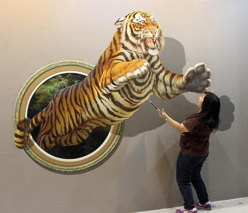 Art In Paradise  Chiangmai's Illusion Art Museum Throughout 3D Wall Art Illusions (Image 10 of 20)