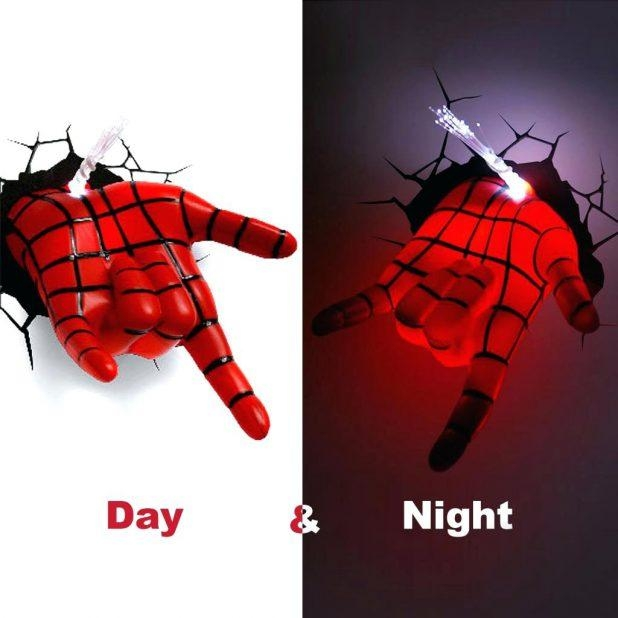 Articles With 3D Wall Art Nightlight Spiderman Tag: 3D Wall Art Regarding 3D Wall Art Night Light Spiderman Hand (Image 4 of 20)