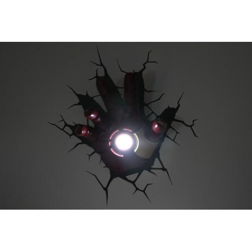 Avengers 3D Wall Art Nightlight – Iron Man Hand Within Iron Man 3D Wall Art (Image 10 of 20)