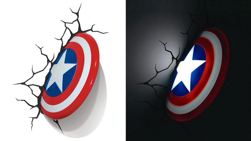 Awesome Avengers Nightlights Pertaining To 3D Wall Art Night Light Australia (Image 9 of 20)