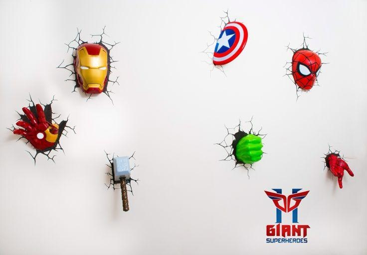 Awesome Superhero Wall Light 58 On Ikea Wall Lights Australia With With Regard To 3D Wall Art Night Light Australia (Image 10 of 20)