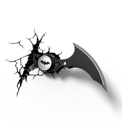 Batman: Batarang 3D Wall Light | With Regard To Batman 3D Wall Art (View 14 of 20)