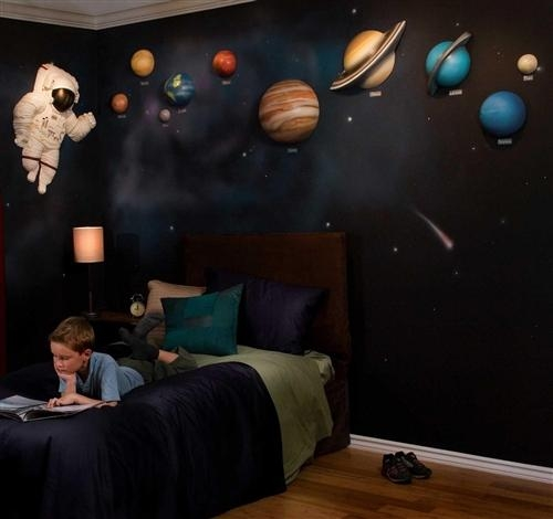Featured Image of 3D Solar System Wall Art Decor