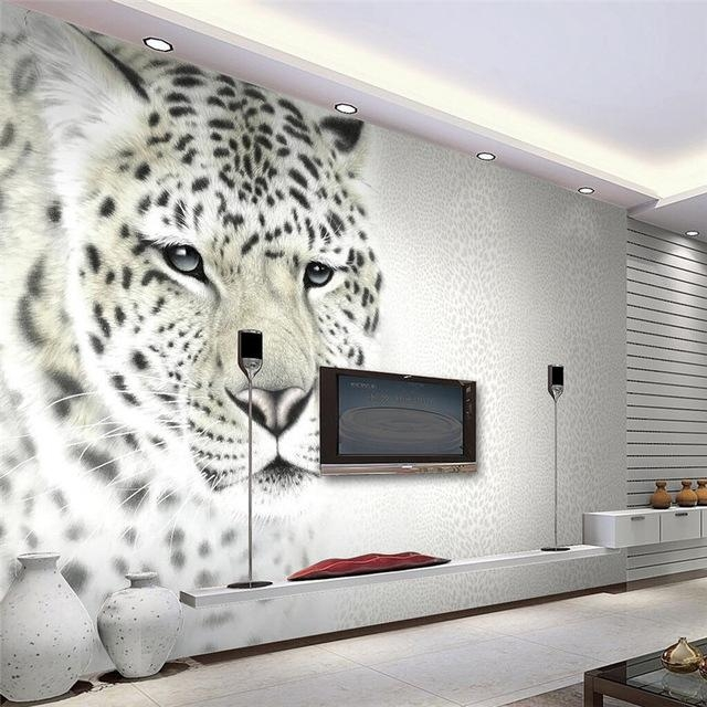 Beibehang 3D Wall Paper Animal Art Photography Photo Living Room Regarding 3D Wall Art Wallpaper (Image 5 of 20)