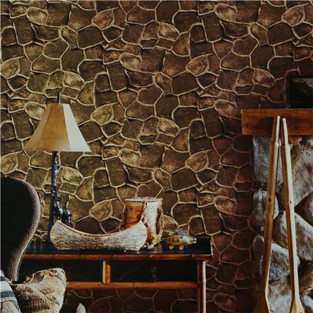Beibehang Brick Photo Wallpaper 3D Wall Paper Luxury Vintage For Intended For Vintage 3D Wall Art (Image 5 of 20)
