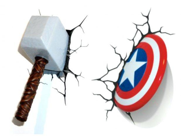 Benefits Of Iron Man Wall Light 3D Art Nightlight Thor Hammer In 3D Wall Art Night Light Spiderman Hand (Image 5 of 20)