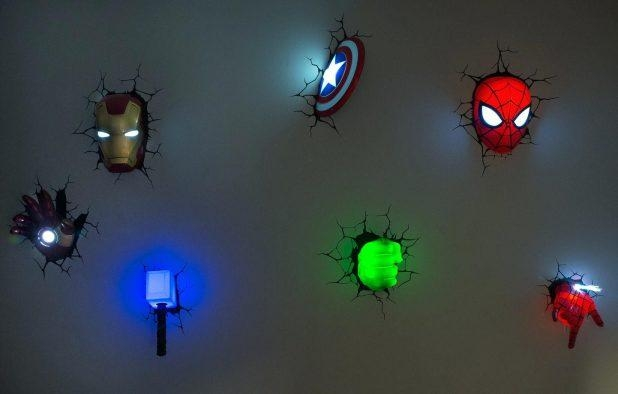 Benefits Of Iron Man Wall Light 3D Art Nightlight Thor Hammer Pertaining To 3D Wall Art Night Light Spiderman Hand (Image 7 of 20)