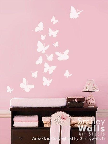 Best 25+ Butterfly Wall Decals Ideas On Pinterest | Butterfly Wall Within 3D Wall Art For Baby Nursery (Image 7 of 20)