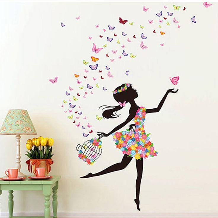 Best 25+ Girls Wall Stickers Ideas On Pinterest | Gold Dots, Girl In 3D Removable Butterfly Wall Art Stickers (View 8 of 20)