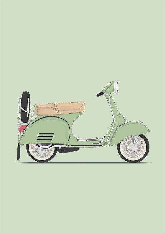 Best 25+ Vespa Illustration Ideas On Pinterest | Vespa, Vespa Girl Inside Vespa 3D Wall Art (Image 10 of 20)