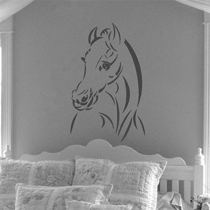 Buckoo Design Geometric Horse Head Wall Sticker Geometry Animal Throughout 3D Horse Wall Art (Image 9 of 20)