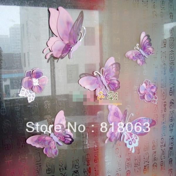 Butterfly Wall Decor Throughout 3D Removable Butterfly Wall Art Stickers (View 19 of 20)