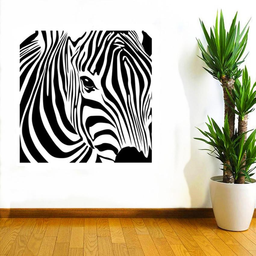 Cacar New Design Geometric Zebra Wall Sticker Abstract Animal Inside Zebra 3D Wall Art (Image 8 of 20)