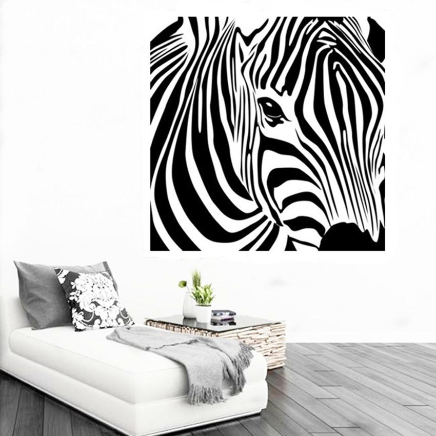 Cacar New Design Geometric Zebra Wall Sticker Abstract Animal Intended For Zebra 3D Wall Art (Image 9 of 20)
