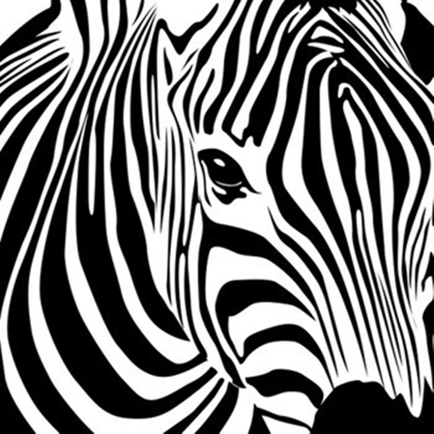 Cacar New Design Geometric Zebra Wall Sticker Abstract Animal With Zebra 3D Wall Art (Image 10 of 20)
