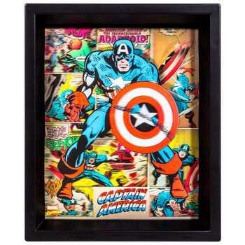 Captain America 3D Framed Wall Decor | Hobby Lobby | 1111202 Throughout Captain America 3D Wall Art (Image 11 of 20)