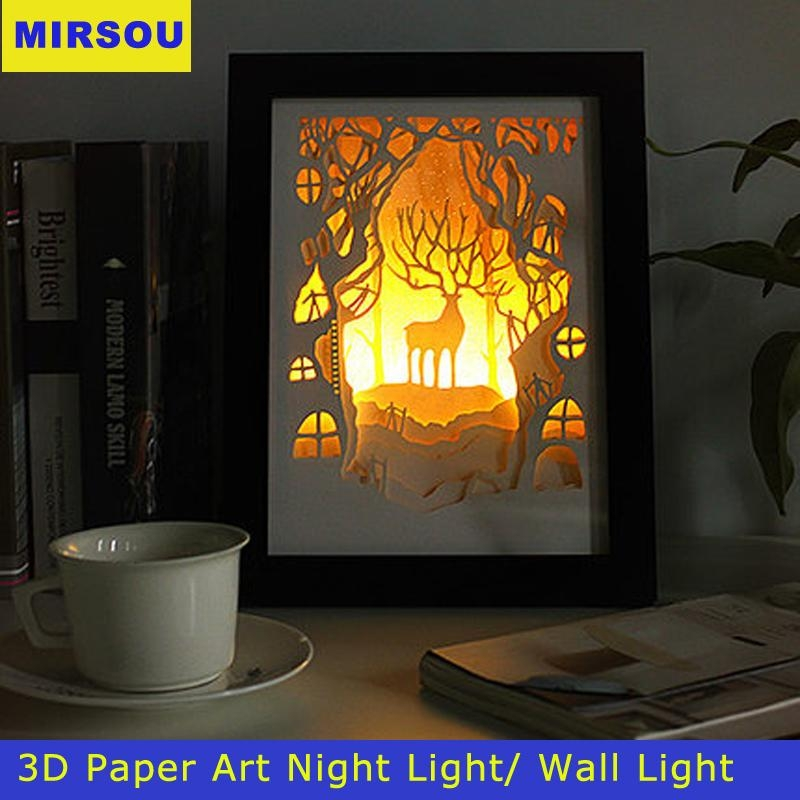 Captivating 40+ 3D Wall Art Nightlight Inspiration Design Of 20 3D Inside 3D Wall Art With Lights (Image 8 of 20)