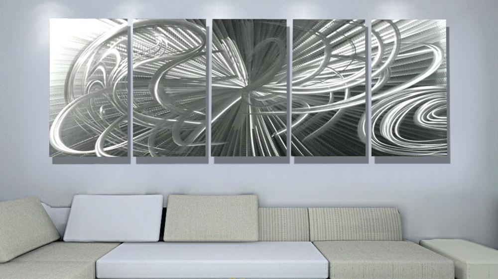Contemporary Art Wall Decor – Hydroloop Regarding Metal Wall Art Decor 3D Mural (Image 6 of 20)