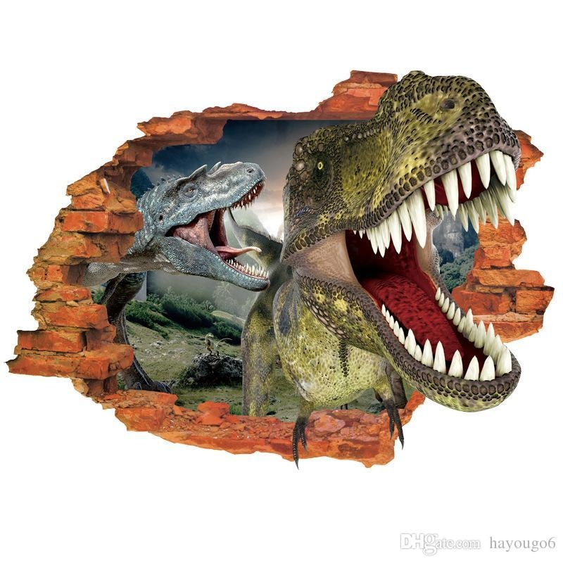 Creative 3D Effect Dinosaur Decorative Wall Stickers , Diy Home With Dinosaurs 3D Wall Art (Image 9 of 20)