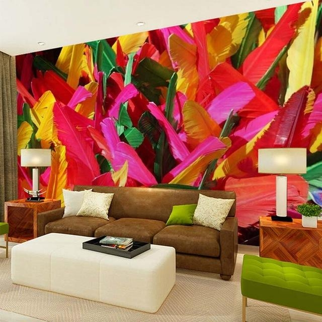 Custom 3D Mural Wallpaper Modern Abstract Wall Art Decor Murals Within Abstract Wall Art 3D (View 10 of 20)