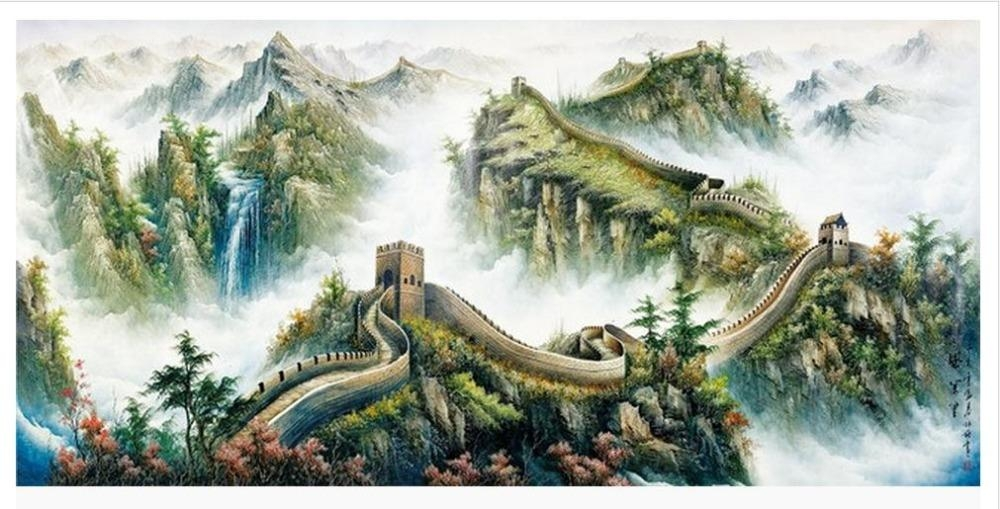 Customized 3D Wallpaper 3D Wall Murals Wallpaper The Great Wall With Great Wall Of China 3D Wall Art (View 9 of 20)