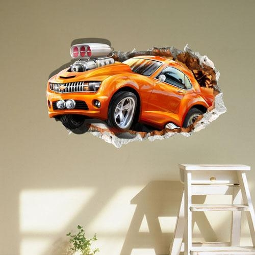 Decor Picture – More Detailed Picture About Free Shipping Sports Throughout Cars 3D Wall Art (View 4 of 20)