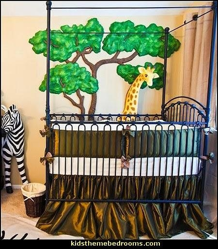 Decorating Theme Bedrooms – Maries Manor: Jungle Baby Bedrooms With 3D Wall Art For Baby Nursery (Image 9 of 20)