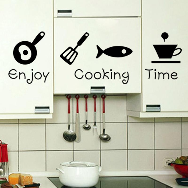 Design Creative Diy Wall Stickers Kitchen Decal Home Decor Throughout Decorative 3D Wall Art Stickers (Image 15 of 20)