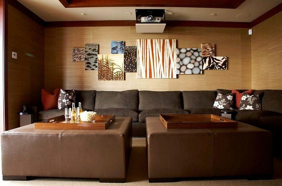 Designs Ideas : Ultra Modern Living Room With Sectional Sofa And Inside 3D Wall Art And Interiors (Image 11 of 20)