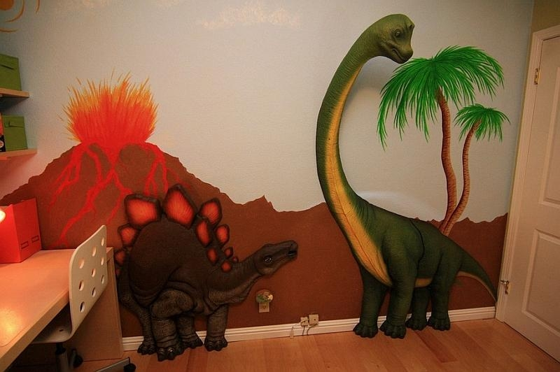 Dinosaur Wall – Todosobreelamor Throughout Beetling Brachiosaurus Dinosaur 3D Wall Art (Image 16 of 20)
