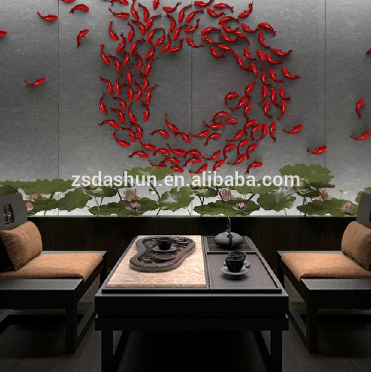 Diy 3D Fish Wall Stickers Art Decal Pvc Fishes Home Decor – Buy 3D Within Fish 3D Wall Art (Image 11 of 20)