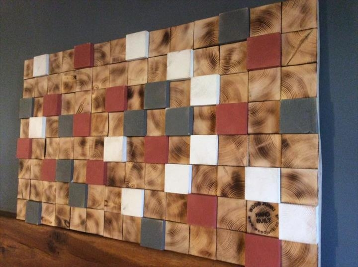 Diy 3D Pallet Wall Art | 99 Pallets Pertaining To Wood 3D Wall Art (Image 4 of 20)