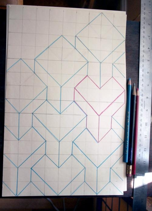 Diy Project: 3D Cube Painted Walldonna Yu – Design*sponge In Cubes 3D Wall Art (Image 13 of 20)