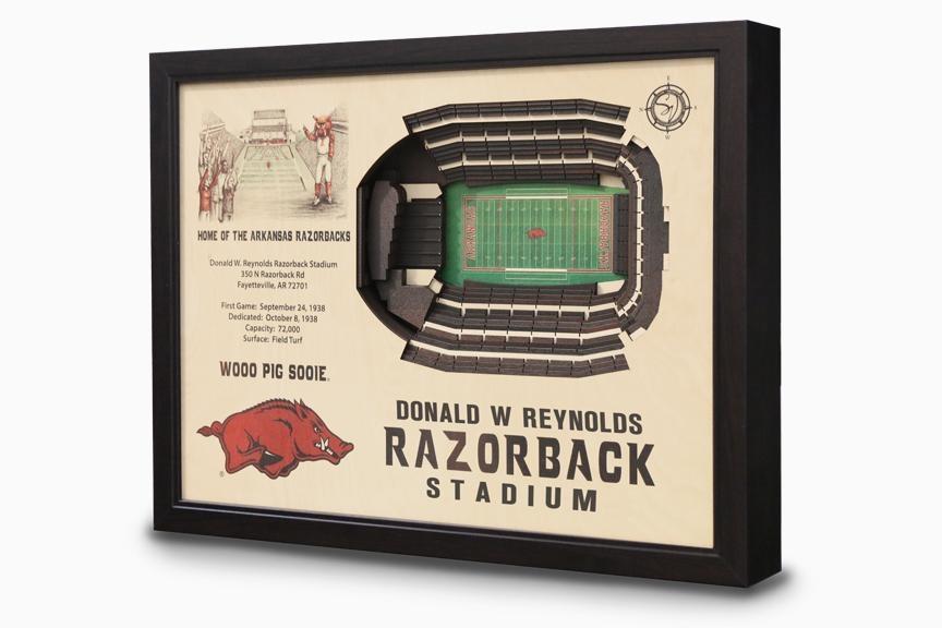 Donald W Reynolds Razorback Stadium 3 D Wall Art – Arkansas Regarding Baseball 3D Wall Art (Image 11 of 20)