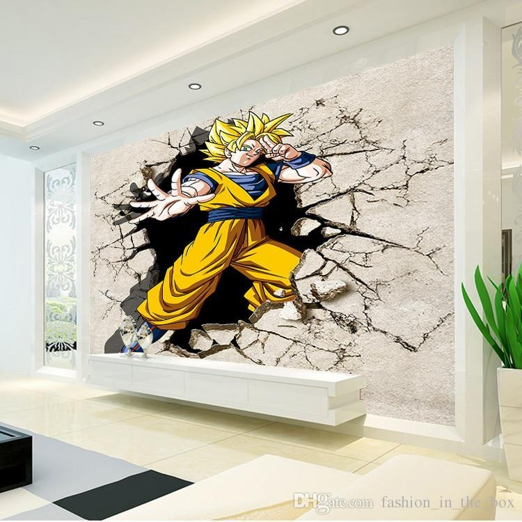 Dragon Ball Photo Wallpaper 3D Anime Wall Mural Custom Cartoon With Regard To 3D Wall Art Wallpaper (Image 10 of 20)
