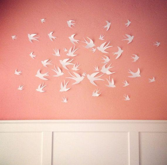 Featured Image of White Birds 3D Wall Art