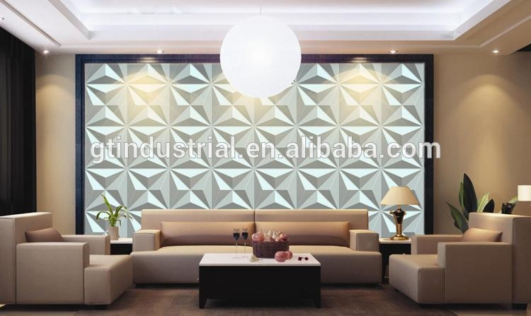 European Modern Mdf 3D Wall Panel/3D Board Wall Panel/pvc 3D Wall With Regard To 3D Plastic Wall Panels (Image 6 of 20)