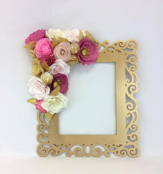 Floral Frame Photo Prop 3D Flower Wall Art Paper Flower For 3D Flower Wall Art (Image 9 of 20)